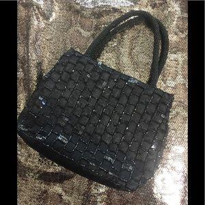 Handbags - Small beaded black bag